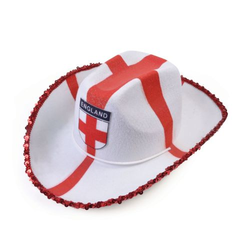 St George Felt Cowboy Hat American Wild West & Indians Fancy Dress Accessory
